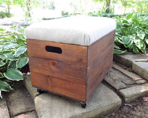 storage ottoman with casters rustic cedar wooden crate with casters ottoman foot