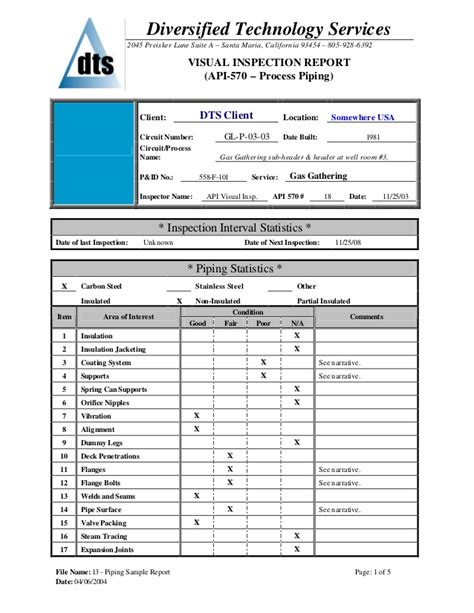 initial sle inspection report initial sle inspection report template 28 images daily