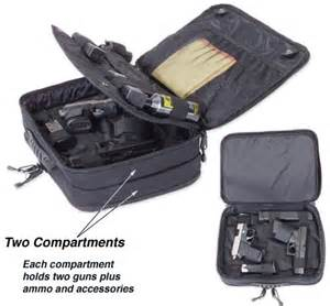 Elite survival systems four gun pistol pack briefcase range bag