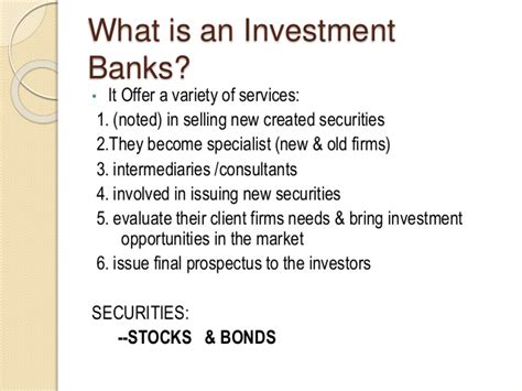 Work In Investment Banking Without Mba by Investment Banks Securities Analysts