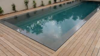 wood pool deck teak decking installation around swimming pool with