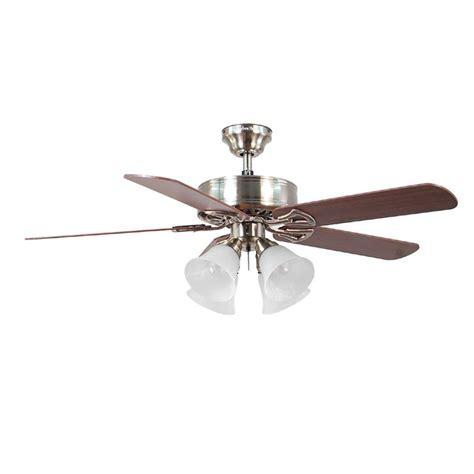 harbor brushed nickel ceiling fan shop harbor springfield ii 52 in brushed nickel