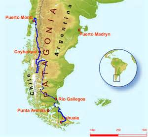 map of patagonia south america patagonia diary by michael barnett castingawayblog