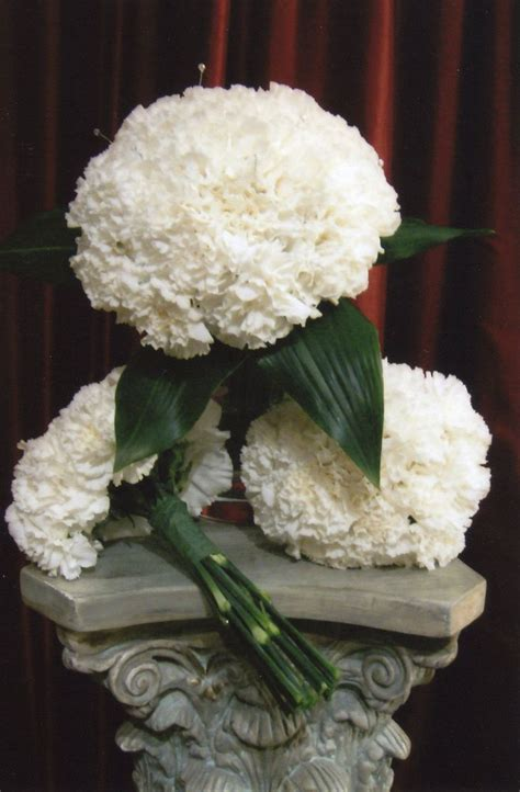 Inexpensive Bridesmaid Bouquets by Best 25 White Carnation Bouquet Ideas On