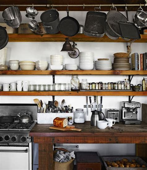 Rustic Kitchen Shelving Ideas by Our Vintage Home Rustic Open Kitchen Shelving