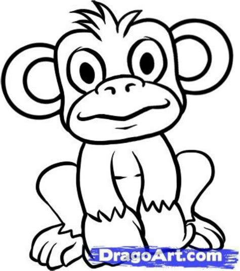 how to draw a doodle monkey easy monkey drawings