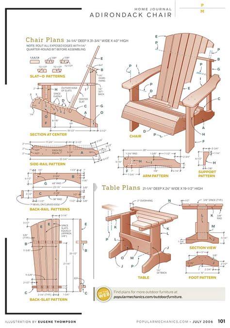 woodwork adirondack chair plans  templates  plans