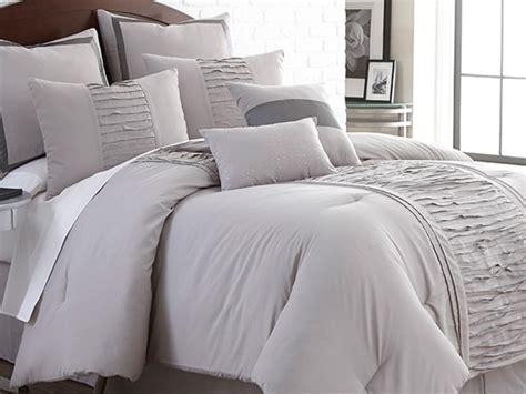Marilyn Comforters by Marilyn Embellished Linen 8 Pc Comforter Set Grey