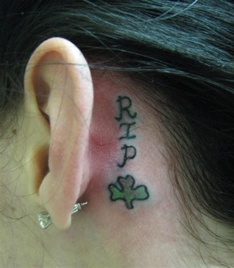 tattoo back ear behind ear tattoo designs 24