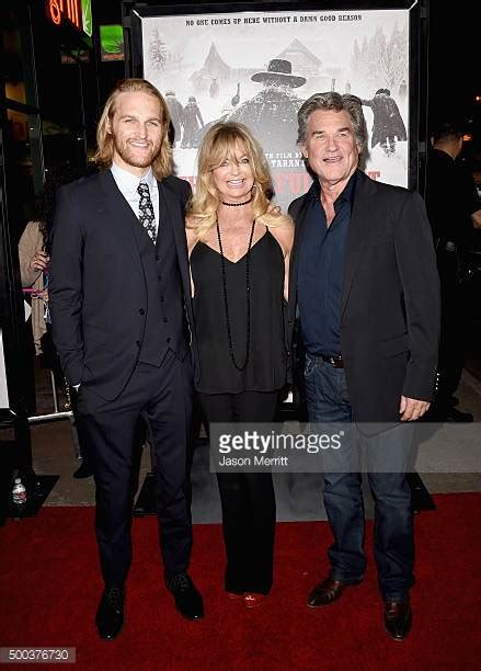 kurt russell attends the premiere of the hateful eight dec 10 wyatt russell stock photos and pictures getty images
