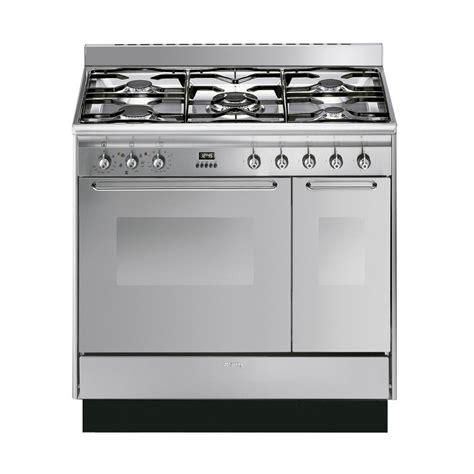 cucina smeg buy smeg cucina 90cm stainless steel dual fuel range