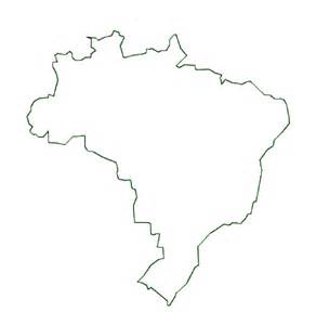 Country Outline map of brazil terrain area and outline maps of brazil countryreports