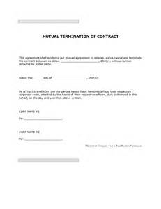 Mutual Agreement Contract Template 11 Best Images Of Mutual Agreement Termination Letter