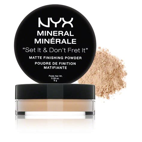 Nyx Mineral Matte Finishing Powder nyx mineral matte finishing powder light medium dermstore