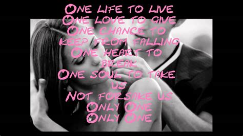 testo one and only only one alex max band lyrics