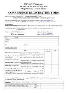 document form template conference registration form template doc besttemplates123