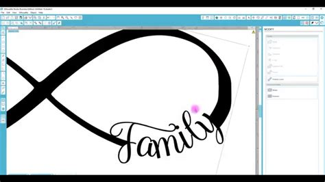 infinity sign text silhouette studio text to path on an infinity sign