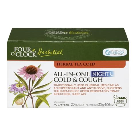 buy four o clock herbalist herbal tea for colds in canada free shipping healthsnap ca