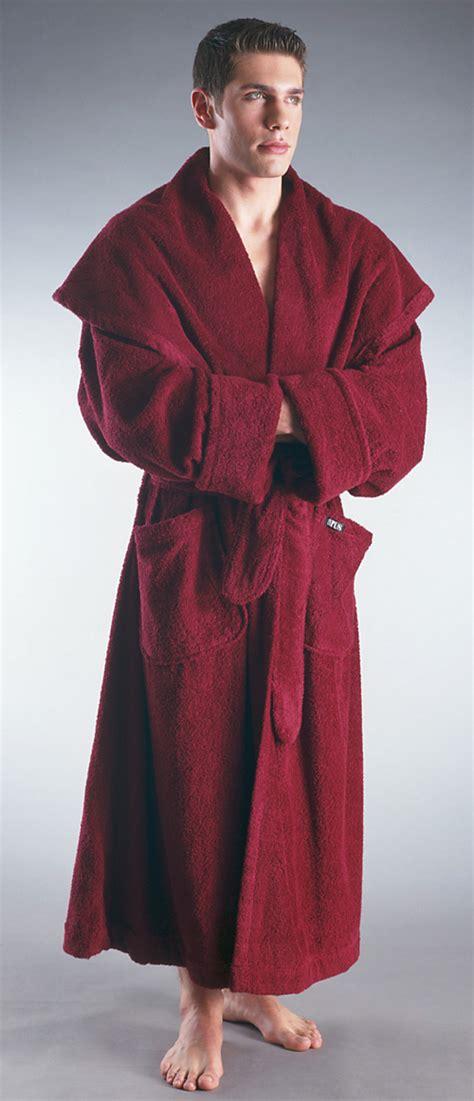 full length bathrobe men s luxury monk style full length hooded bathrobe