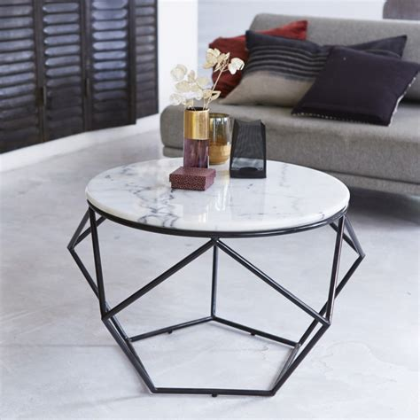 Table Basse Ronde Marbre by Table De Salon En Marbre Blanc Vente Tables Basses Bi Matire