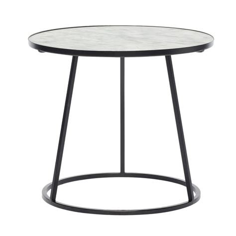 Table Basse Ronde Marbre by Table Basse Ronde Marbre Blanc Metal Noir Hubsch 670208