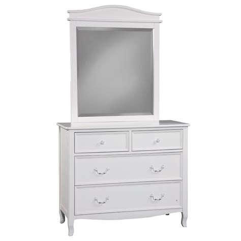 Dresser With Mirror by 4 Drawer Dresser With Mirror In White Rosenberryrooms