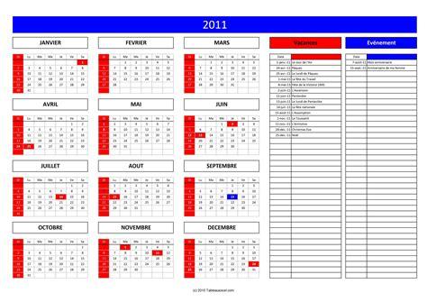 Calendrier 2011 Excel Calendrier 2012 Tableau Excel