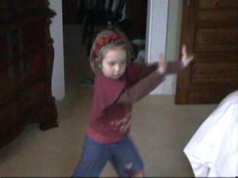 Little girl dancing to single ladies beyonce hair