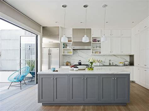 white shaker style kitchen cabinets classic and trendy 45 gray and white kitchen ideas