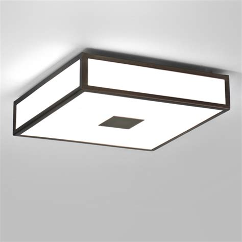 Square Bathroom Ceiling Light Mashiko 300 Bronze Square Bathroom Ceiling Light With White Diffuser Ip44 2 X 18w 2g11 Ax0639