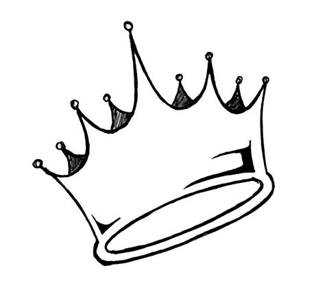 draw design free simple crown drawing free clip free clip