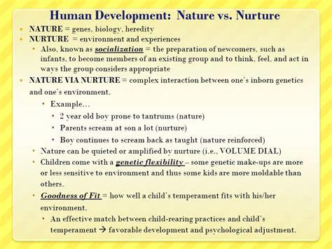 exle of nature vs nurture human development nature vs nurture ppt