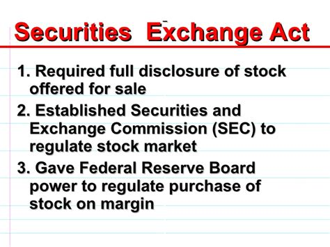 securities act section 3 the new deal