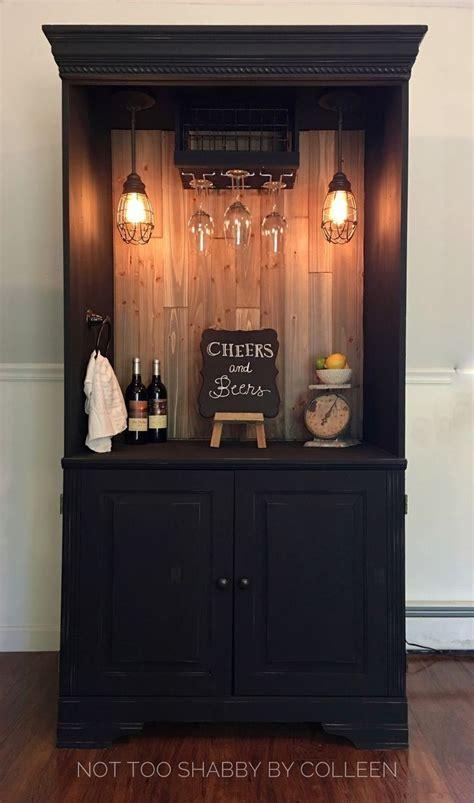 liquor cabinet  lock storage small bar wine fridge diy
