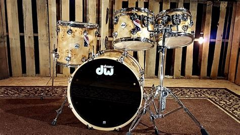 dw bank dw drums collector s maple mapa burl with chrome hw shell