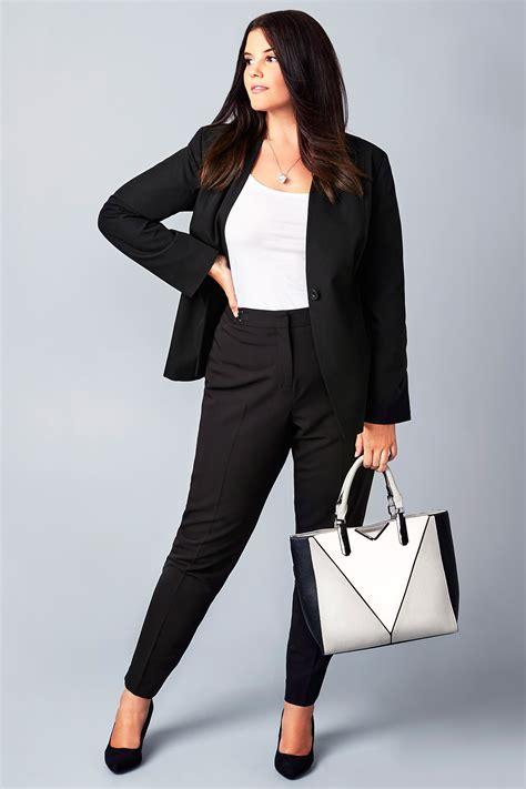Script Smart Gift Cards - black slim leg smart trousers plus size 16 to 36