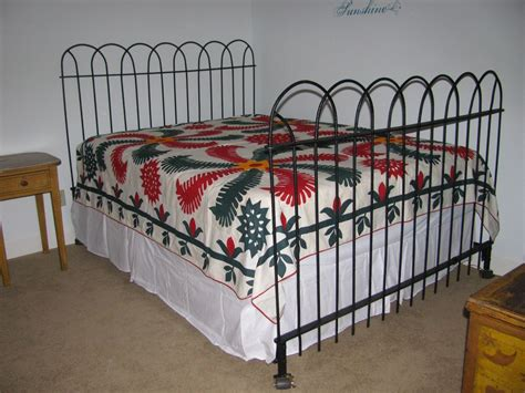 vintage wrought iron headboard antique hairpin wrought iron fence queen bed frame