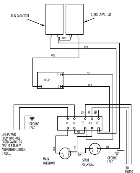 single phase starter inside submersible motor wiring