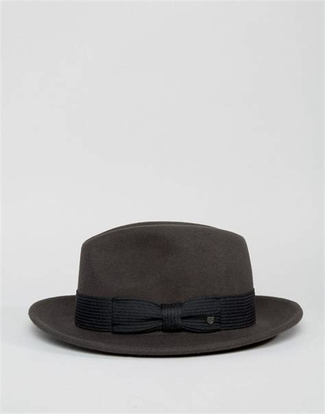 Nelson Fedora Brixton brixton fedora hat nelson in gray for lyst