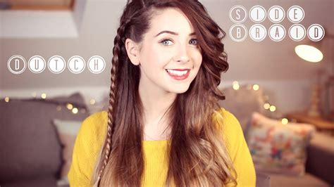 zoella hairstyles braids how to super easy dutch side braid zoella ad youtube