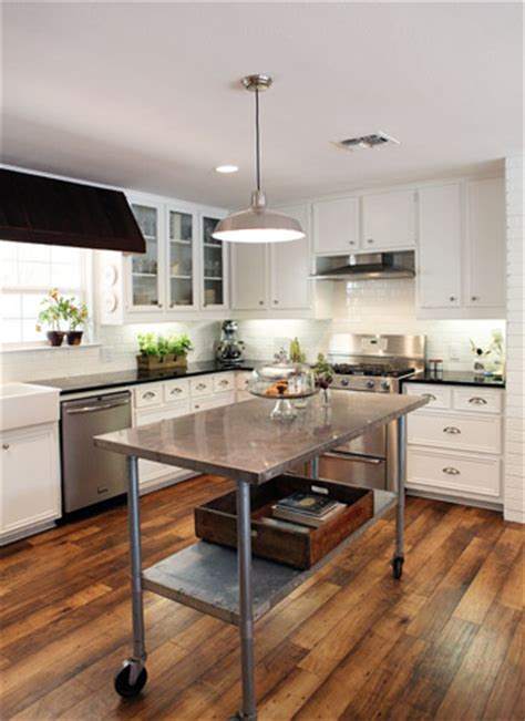 stainless steel kitchen island on wheels reader redesign farmhouse kitchen house