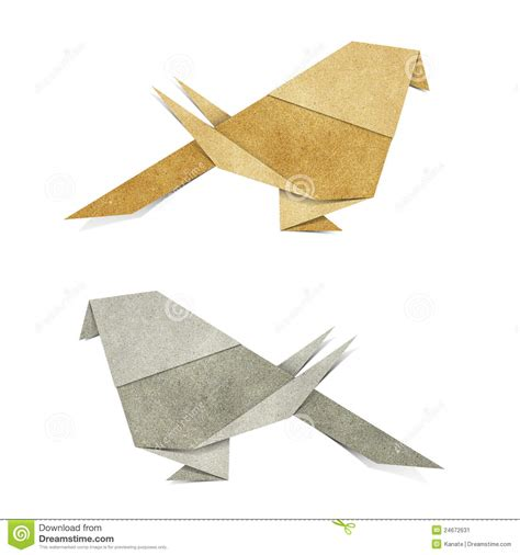 Papercraft Origami - origami bird recycle papercraft stock image image 24672631