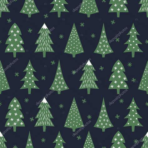 christmas tree new year pattern simple seamless retro christmas pattern varied xmas