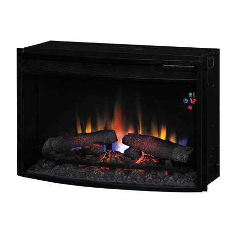 Curved Fireplace by Classic Curved Front 25 Inch Electric Fireplace