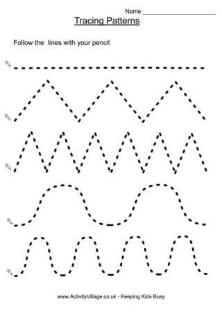 tracing patterns great site  educational printables