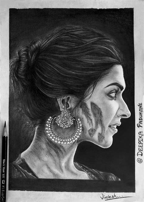 deepika padukone drawing portrait drawing deepika padukone my drawings
