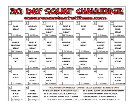 30 day squat challenge for 30 day squat challenge run and eat with me