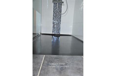 bac a 100x80 receveur de en mercurion shadow granit noir luxe 100x80