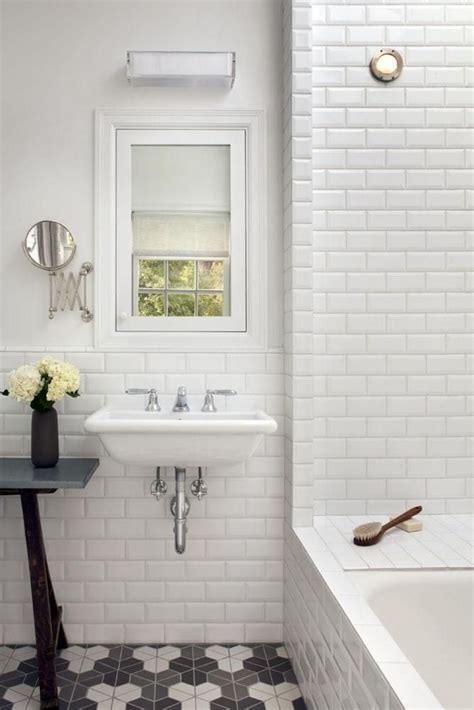 White Wall Tiles For Bathroom by Bathroom Subway Tile Bathroom Walls White Beveled