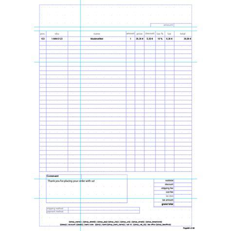 Rechnung Englisch Template Standard Invoice Englisch Rechnungstemplate Aromicon Agentur